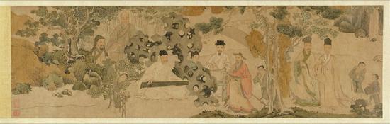 《聚贤听琴图 》美国明尼亚波利斯艺术馆藏