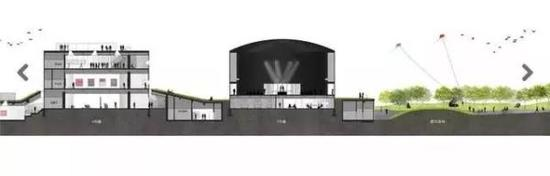 油罐艺术公园空间设计剖面图