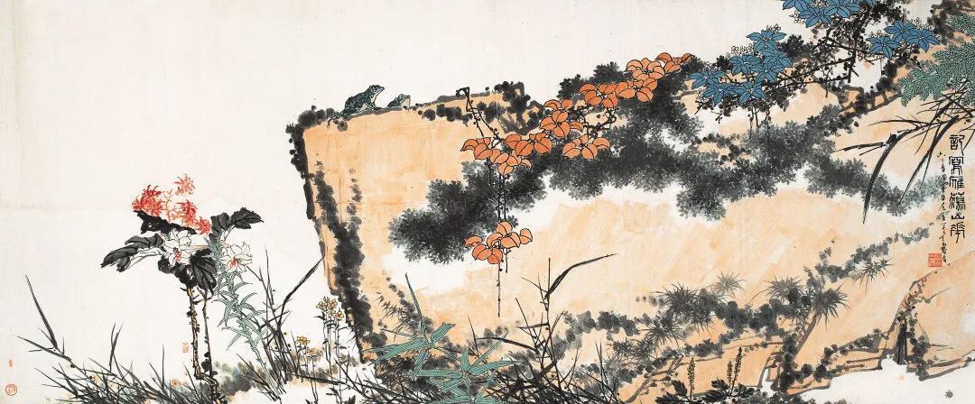潘天寿还有巨幅《记写雁荡山花》传世吗?