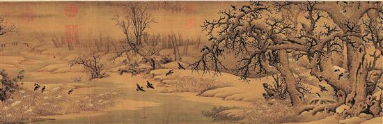 季观之 摹《荷香清夏图》(局部)