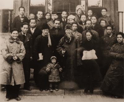 部分北平艺专教师合影,1948年