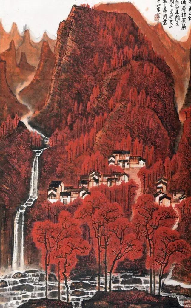 李可染最后一幅《万山红遍》,荣宝斋旧藏,2015嘉德秋拍以1.84亿元拍出