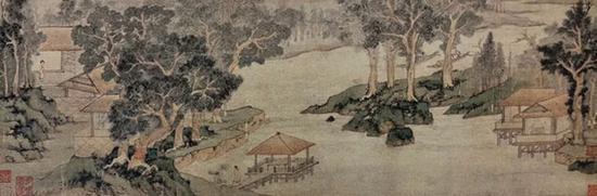 木泾幽居 画心部分 安徽博物院藏
