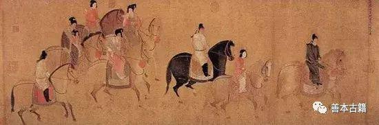 唐 张萱《虢国夫人游春图》(宋摹)局部