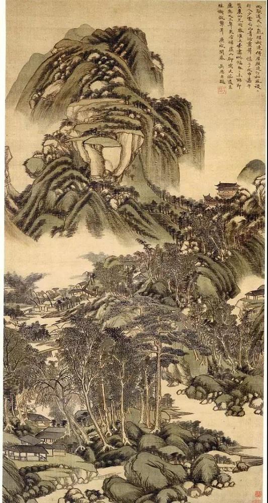 吴历 《雨歇遥天图》 上海博物馆藏