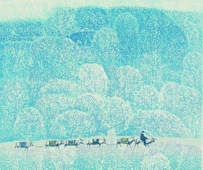冬旅(版画) 49×57厘米 1998年 周胜华