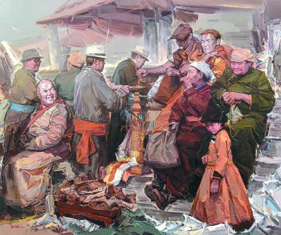 巴尔虎的丰收年(油画)张可扬(中国)