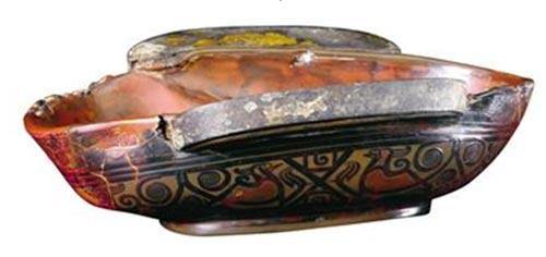 中国汉代漆杯。发现于朝鲜平壤附近,公元4年