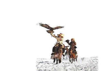 民俗文化展中的哈萨克族狩猎文化图片
