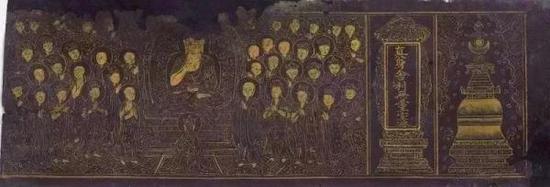 金书《妙法莲华经》(局部) 平湖市博物馆镇馆之宝
