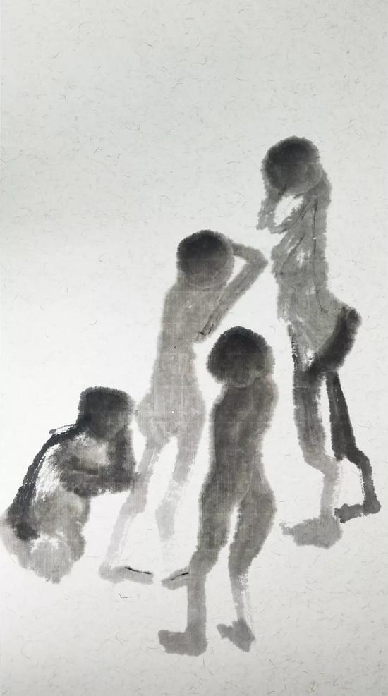 孩童  2018  纸本设色  44x24cm