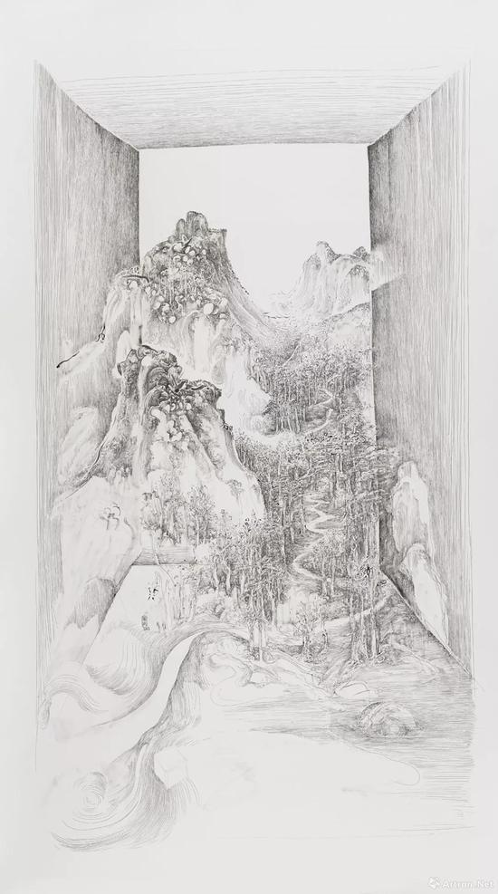 拍品编号225 林国成 ( 中国,1979年生 ) 《开门见山 — 层崖丛树》