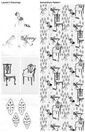 左:劳伦·娜瑟夫的设计 右:萨曼萨·比特森的参赛作品