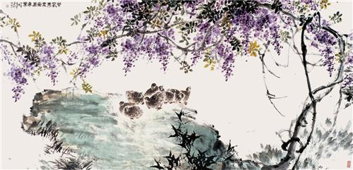 《紫气东来安居乐业》
