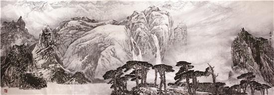 《长白山》2011年12月 展藏于人民大会堂委员长会议室门厅