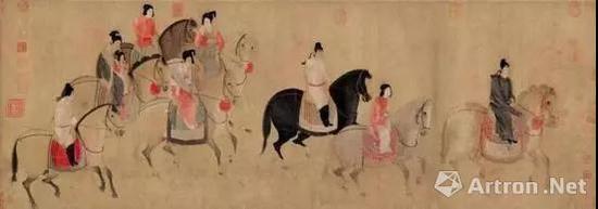 宋摹本 《虢国夫人游春图》