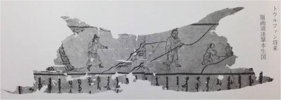 B 吐鲁番出土回鹘文须大拏太子本生图(版画)