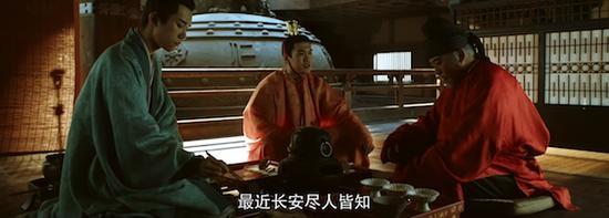 剧中李必与太子密谈时煮茶