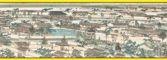 《南宋皇城图》万岁桥局部图