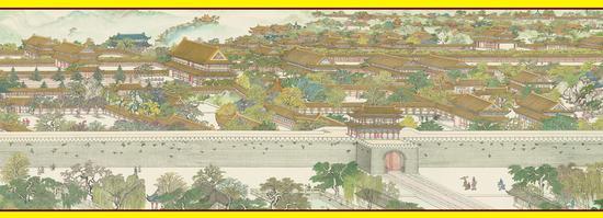 《南宋皇城图》皇宫局部图