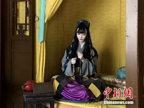 资料图:北京大观园中的妙玉塑像。中新网记者 王珊珊 摄