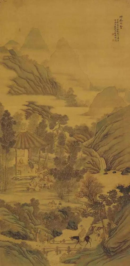 清 彭暘《竹林七贤图》 台湾历史博物馆藏