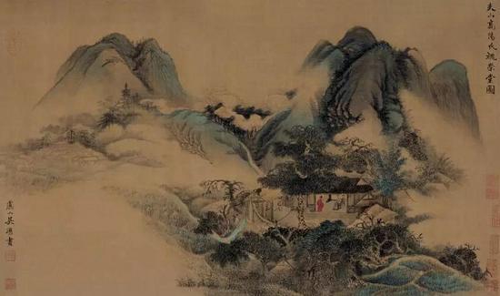 吴历《槐荣堂图》 上海博物馆藏