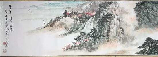 邵光亭先生作品《风月有情归我辈》,纸本,设色