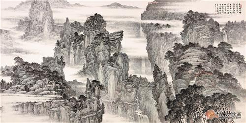 国画典藏 林德坤最新国画山水画赏析