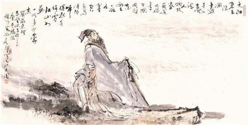 《大江东去图》68cm×136cm