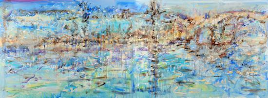 宋巍《大仓桥》 120×320cm 布面油画 2014 年