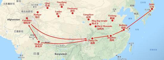 汉代四川通往印度与西方的主要通道