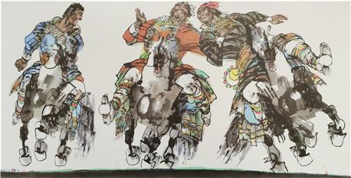 《巴彦布鲁克的人们》136×68cm