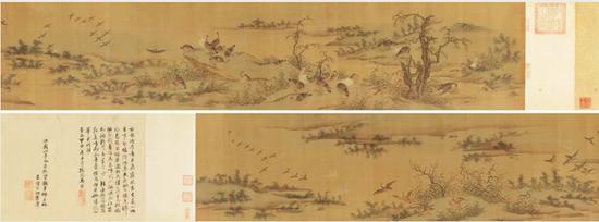 匡时 宋人 《芦雁图》 石渠宝笈27.5×235.5厘米成交价:2357.5万元