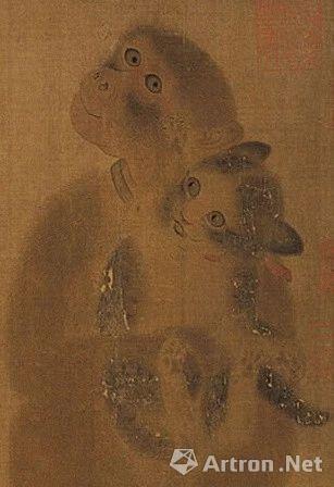 《猴猫图》局部