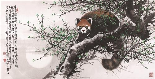 《小熊猫》 68×138cm 2000年