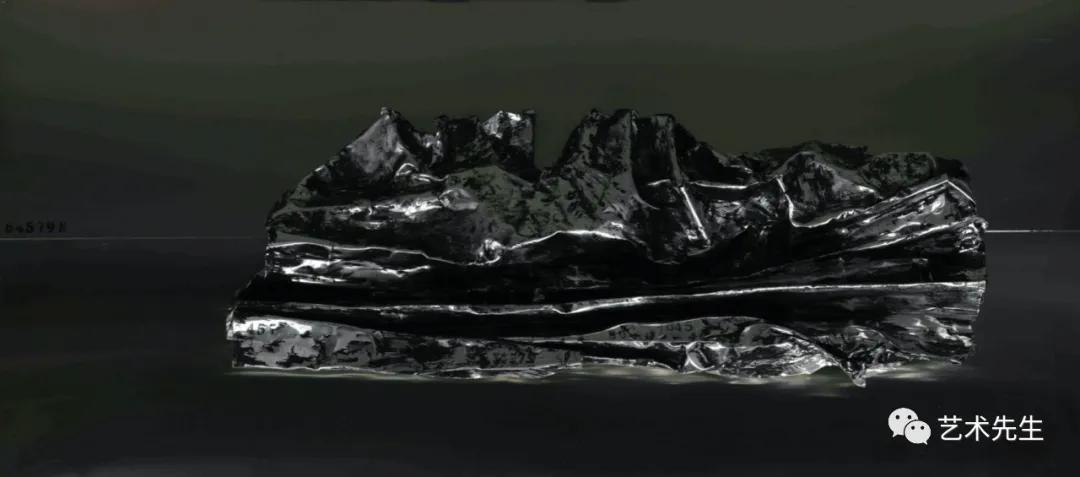 王家增 《物的褶皱-75》90x40cm 不锈钢、铝2020