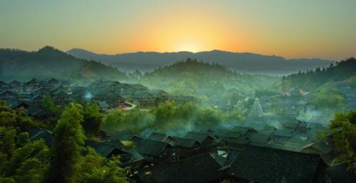 三江侗族自治县程阳八寨的侗族古建筑群