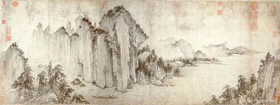 《赤壁图》(金)武元直 纵50.8厘米,横136.4厘米 纸本水墨 台北故宫博物院
