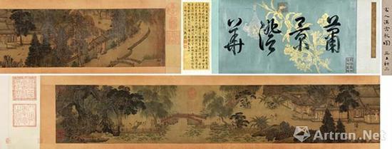 宋人《汉宫秋图》手卷 设色绢本20×166cm