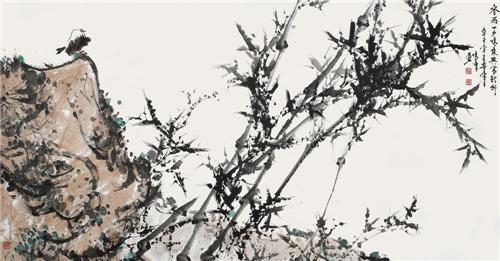 《春雨一夕鸣乘兴写新竹》