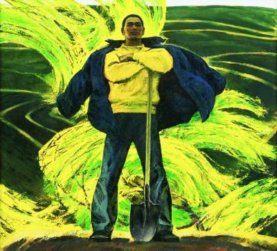 潮(油画)177×196厘米1984年詹建俊中国美术馆藏