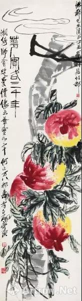 齐白石赠送给李宗仁的作品 《花实各三千年》