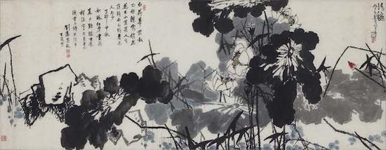 《清秋》,140x359cm,1983年