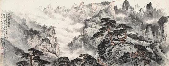 关山月《浮云捲碧山》成交价:RMB