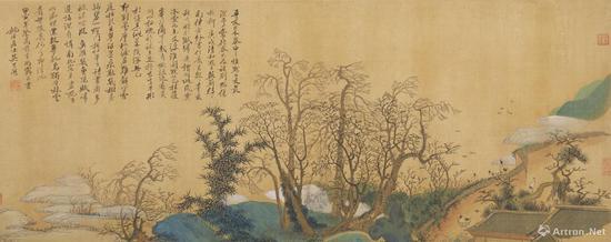 吴历 《兴福庵感旧图》 (1674年作,43岁)故宫博物院藏