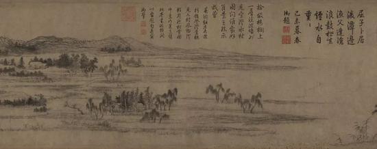 赵孟頫《水村图》卷(局部) 故宫博物院藏