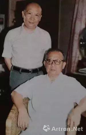 王南屏与王有林(1984年上海)