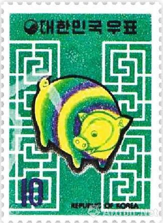 生肖猪在海外受宠多国曾发行过生肖猪邮票