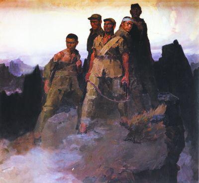 狼牙山五壮士(油画) 1959年 詹建俊 中国国家博物馆藏